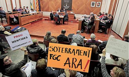 La Plataforma 'Soterrament FGC, Ara' dijo en el pleno que «o se hace ahora o no se hará nunca»