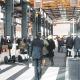 La recreación de una calle del futuro es uno de los atractivos del área de exposiciones del congreso