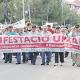La comitiva de la manifestació poc després de sortir de la plaça de la Primavera anant en direcció a l'Ajuntamernt