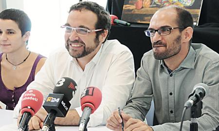 L'alcalde, Juli Fernàndez amb el regidor de la Crida, Maties Serracant