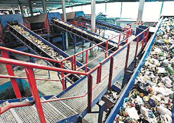 Vista de la planta de tractament de residus de Coll Cardús