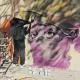 Es van pintar diversos murals urbans, com el de l'Estruch