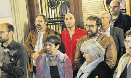 Milers de persones es van concentrar dimecres a la plaça Sant Roc, on Serracant va exigir la llibertat dels empresonats