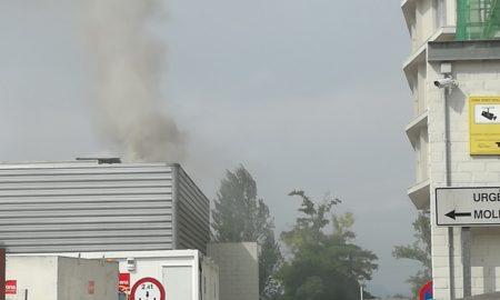 Incendi al generador elèctric del Taulí. Foto: Cedida.
