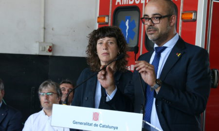 Teresa Jordà i Miquel Buch, aquest matí. Foto: ACN.