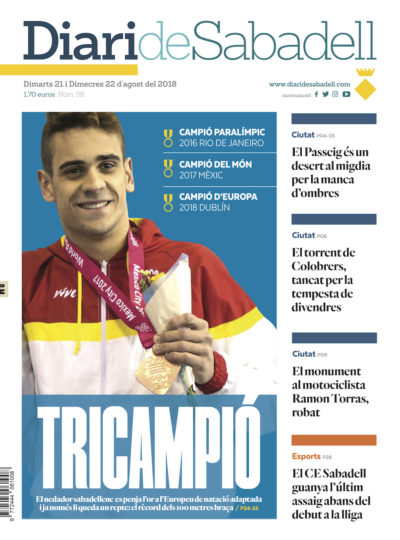 Diari de Sabadell portada 20 agost