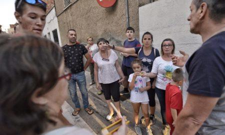 Un grup de veïns que han participat en la protesta