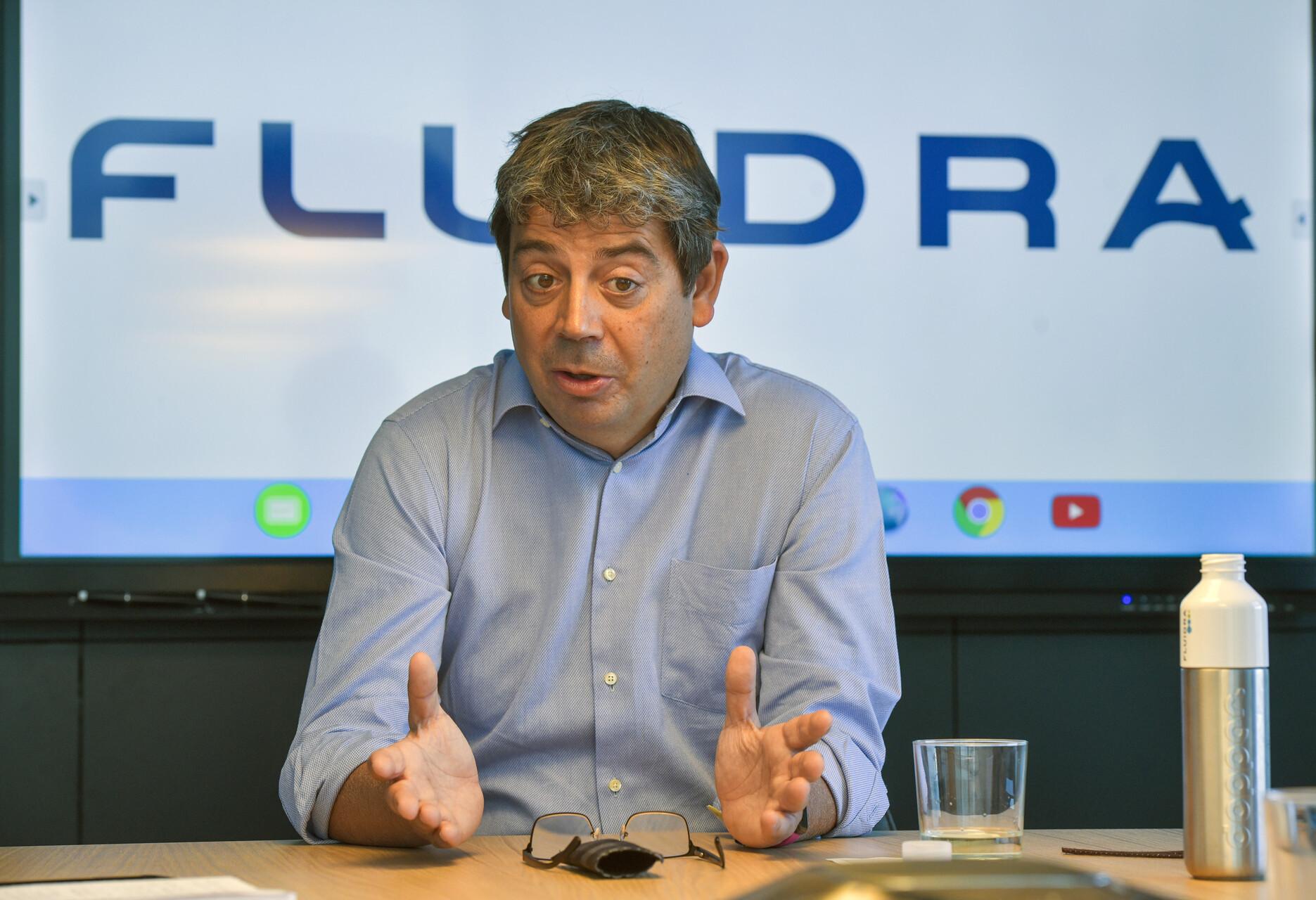 El president executiu de Fluidra, Eloi Planes, durant una entrevista a la seu de la companyia