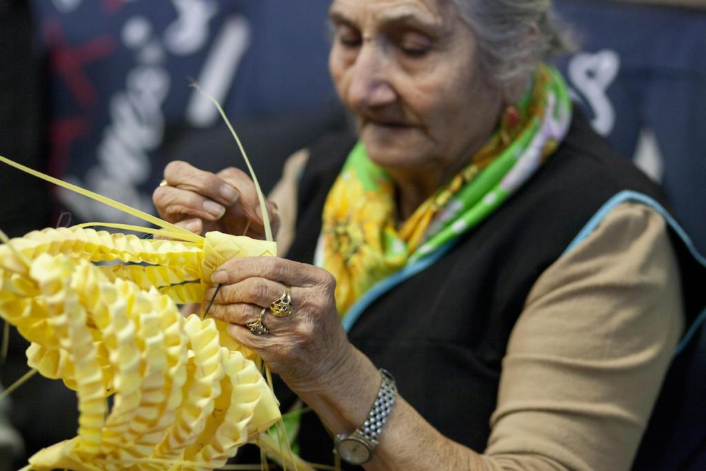 Les palmes més treballades poden trigar a fer-se fins a tres hores / Victòria Rovira