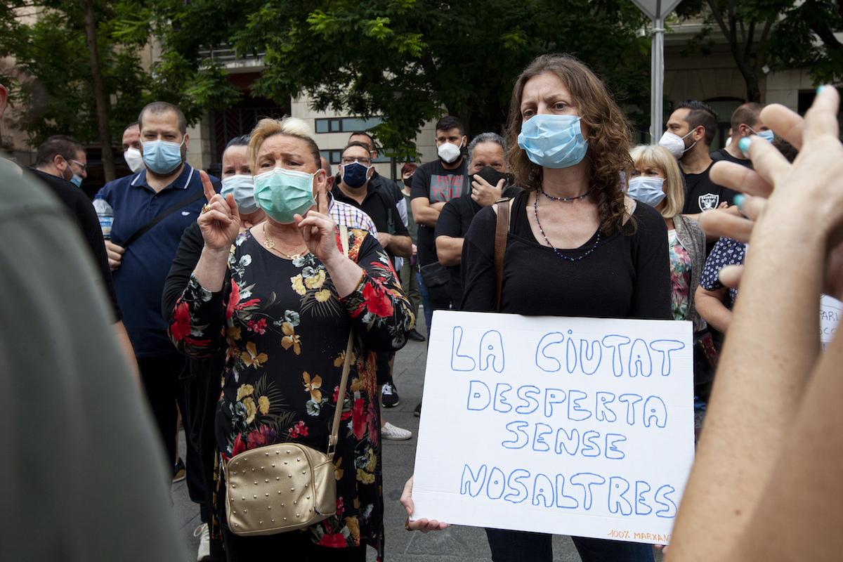 manifestació marxants mercadillo mercat ambulant / VR