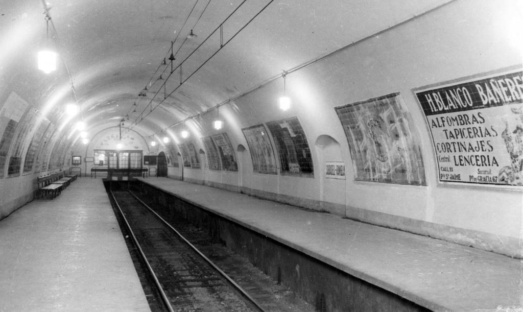 L'estació, cap als anys 40