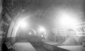 L'estació, poc abans de la seva posada en servei (1925) / ARXIU FGC