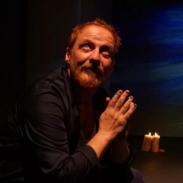 Jaume Garcia, durant un assaig de Van Gogh / cedida (Nito Cilintano)