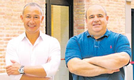 Jaime Jiménez, CEO de Typs, amb el 'business angel' Carlos Blanco