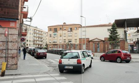 La cantonada dels carrers Ribot i Serra i Josep Aparici.