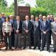 La junta directiva d'Egarsat amb el president d'AMAT