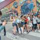 l rodatge del videoclip ahir, al carrer del Doctor Mata a Sabadell Sud