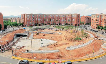 Les obres de la plaça d'Espanya estaran acabades al juliol