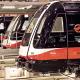 Cotxes de metro a la planta d'Alstom de Santa Perpètua