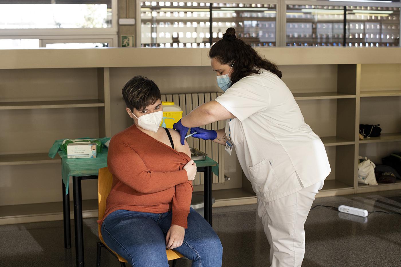 Vacunació als Merinals, la setmana passada