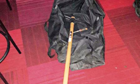 Bossa amb les eines que portaven els lladres