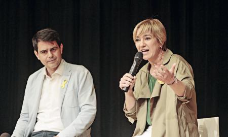 Lourdes Ciuró va presentar la candidatura en un Espai Cultura pràcticament ple