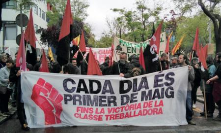 Ambient durant la manifestació convocada a la ciutat