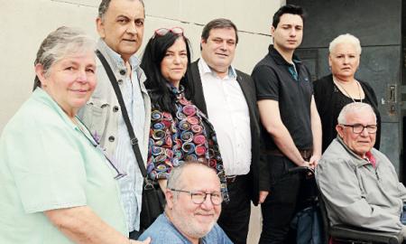 Ramón Vidal amb els membres de la seva candidatura