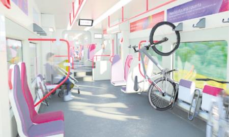 Recreació dels futurs trens de Rodalies