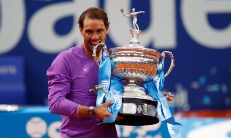 Rafa Nadal, guanyador del Barcelona Open Tennis, del Banc de Sabadell