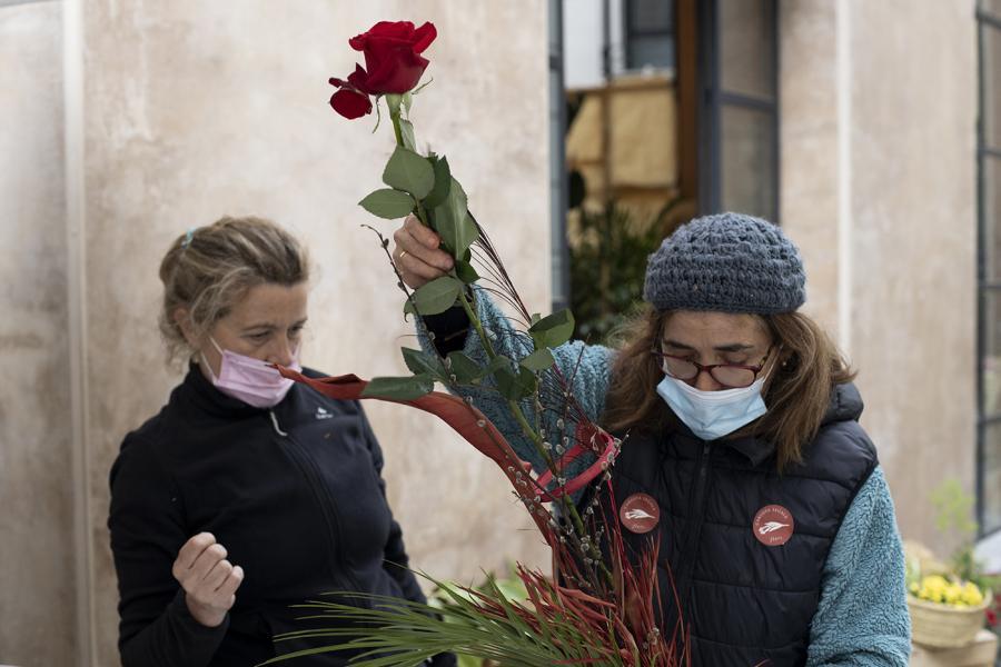 Carlota Segalà, ultimant els darrers preparatius