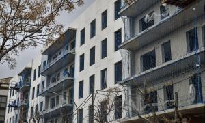 Construcció d'un bloc d'habitatges