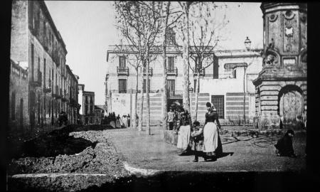 Plaça del Gas al 1884 / Cisco Raurell