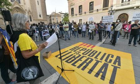 Concentració a la plaça de Sant Roc, aquest dijous / Ll. Franco