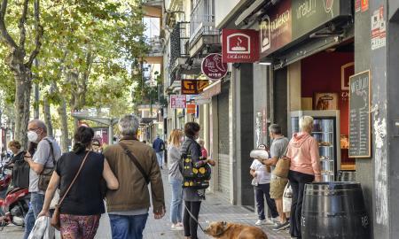 Un tram de l'avinguda de Barberà / lluís franco